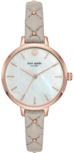 Kate Spade Kate Spade New York Women's mother-of-pearl dial gray leather KSW1470