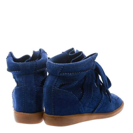 Isabel Marant Suede Lace Leather Rubber Blue Wedges Image 2