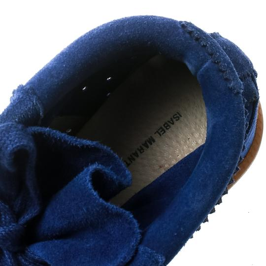 Isabel Marant Suede Lace Leather Rubber Blue Wedges Image 6
