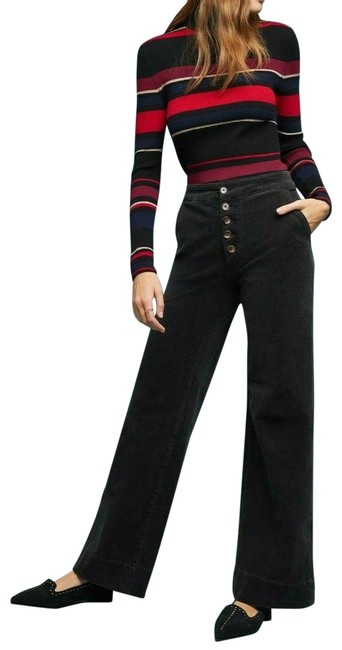 Item - Charcoal Pilcro Ultra High-rise Wide-leg Flare Leg Jeans Size 28 (4, S)