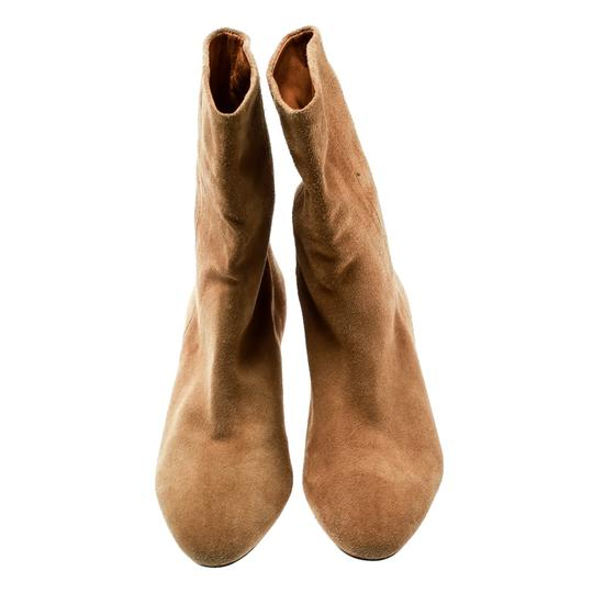 Isabel Marant Suede Leather Ankle Beige Boots Image 1