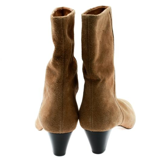 Isabel Marant Suede Leather Ankle Beige Boots Image 2
