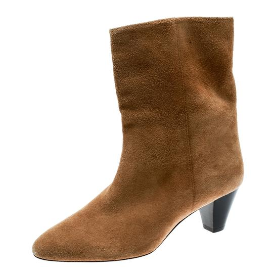 Isabel Marant Suede Leather Ankle Beige Boots Image 4
