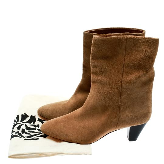 Isabel Marant Suede Leather Ankle Beige Boots Image 7