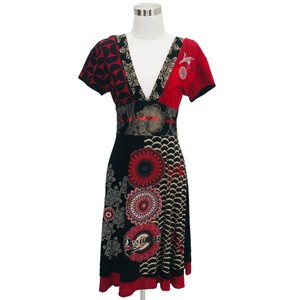 DESIGUAL short dress Red, Black on Tradesy