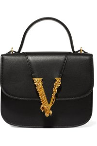 Versace Leather Gold Shoulder Bag