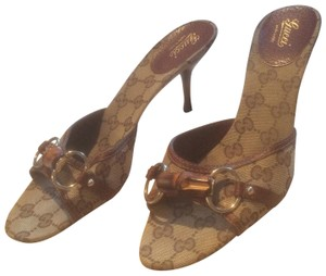 Gucci ***Reduced 8/5*** Brown Mules