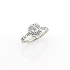 Tiffany & Co. #13859 Soleste Diamond Platinum Engagement Ring