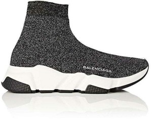Balenciaga Sneakers Sock Stretch Black/Silver Athletic