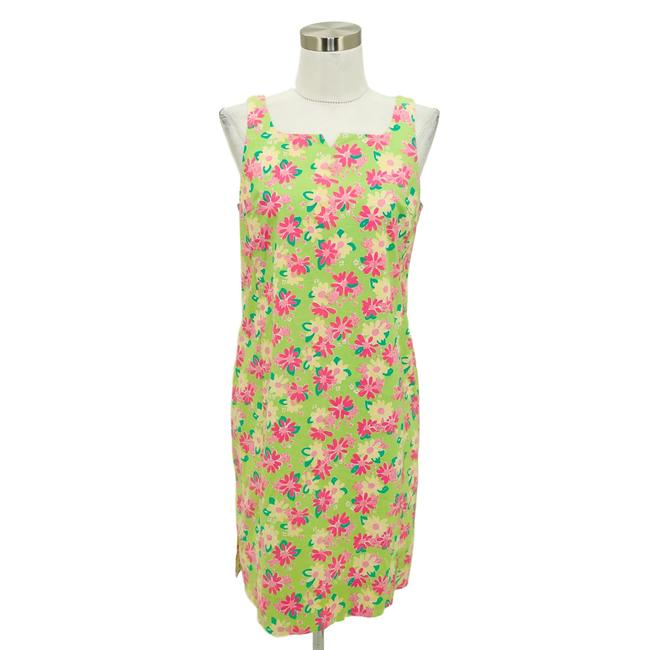 Preload https://img-static.tradesy.com/item/25739270/lilly-pulitzer-green-pink-n161-small-floral-shift-short-casual-dress-size-4-s-0-0-650-650.jpg