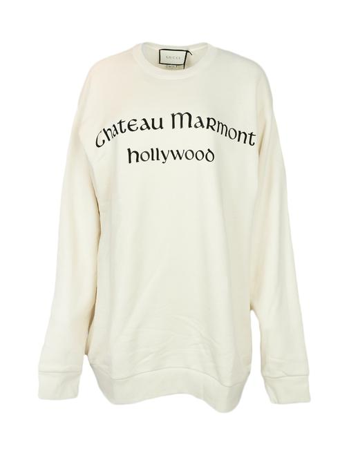Preload https://img-static.tradesy.com/item/25739440/gucci-off-white-marmont-oversized-chateau-crew-neck-sweatshirthoodie-size-16-xl-plus-0x-0-0-650-650.jpg