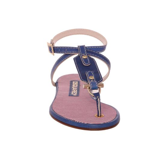 Preload https://img-static.tradesy.com/item/25739484/dsquared2-blue-new-women-genuine-leather-and-textile-thong-ankle-strap-sandals-flats-size-us-6-regul-0-0-540-540.jpg