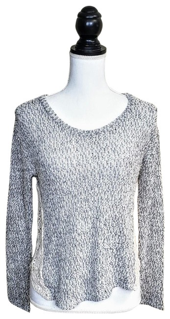 Preload https://img-static.tradesy.com/item/25739709/lush-gray-white-lace-sweater-0-1-650-650.jpg