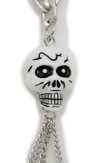 Other Women Silver Metal Necklace Skull Charm Fashion Body Jewelry Halloween Image 6