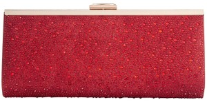 INC International Concepts Stones Ombre Rhinestones Red/gold Clutch