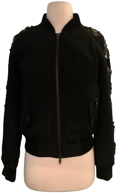 Item - Black Collection Sequin-sleeve Bomber B6297 Jacket Size 4 (S)