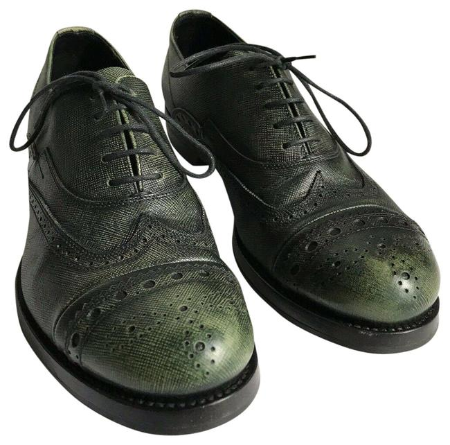 Item - Olive Grained Leather Oxford Mens 6/ Womens Formal Shoes Size US 9 Regular (M, B)