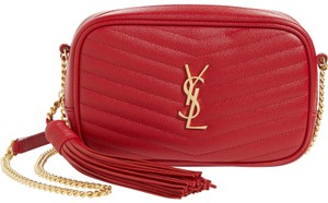 Saint Laurent Quilted Ysl Cross Body Bag