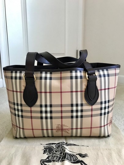 Burberry Tote in dark brown & chocolate & multiple Image 1