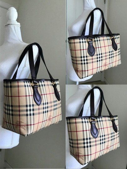 Burberry Tote in dark brown & chocolate & multiple Image 8
