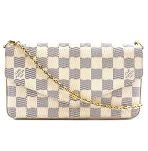 Louis Vuitton Damier Chain Felicie Cross Body Bag