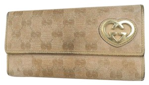 Gucci Auth Gucci Gg Canvas Long Wallet #1120G22