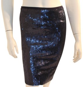 Chan Luu Unique Rare Exclusive Jpb Mini Skirt Blue Sequins