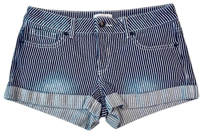 Item - Blue & White Euc Premium Striped Denim Shorts Size 4 (S, 27)