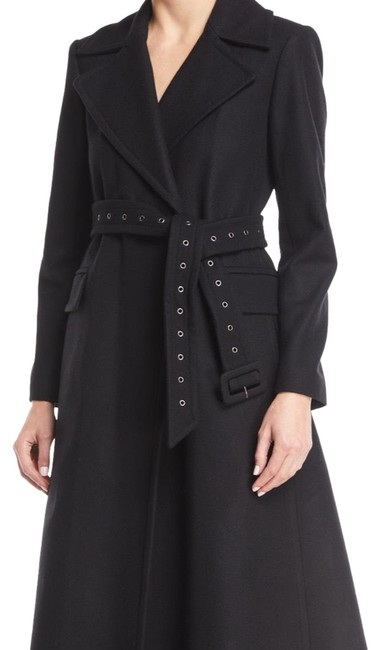Item - Black Perfect Belted Long Wool Coat Size 8 (M)