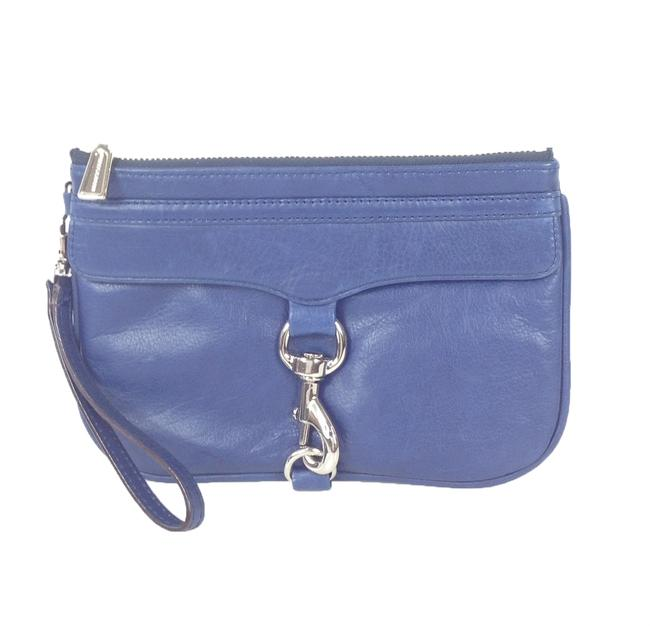 Item - Skinny 15wellcho2 Navy Leather Wristlet