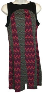 Tracy Negoshian Zigzag Sleeveless Dress