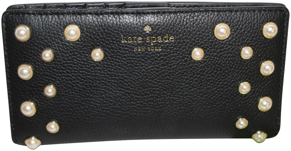 c17932f0f652 Kate Spade Black Clutch Serrano Place Pearl Stacy Bag Wlru5202 Wallet 54%  off retail