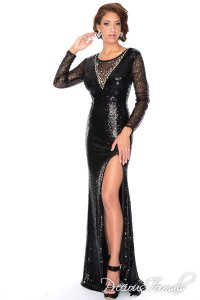 Precious Formals Lux Gal Prom Homecoming Long Sleeve Dress