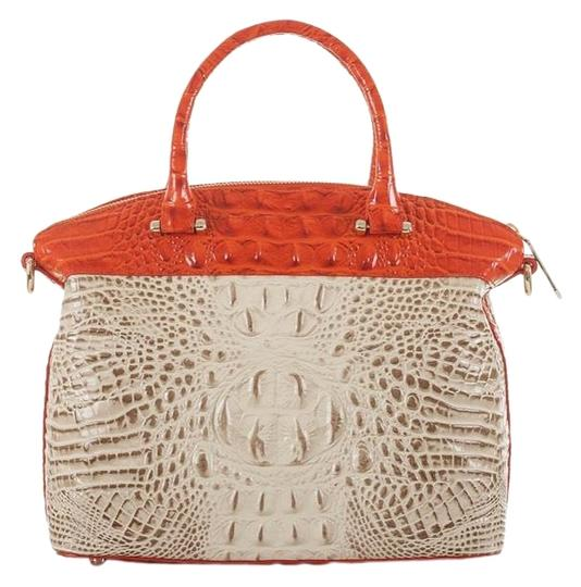 Preload https://img-static.tradesy.com/item/25741048/brahmin-duxbury-ivory-and-orange-red-genuine-leathers-satchel-0-1-540-540.jpg