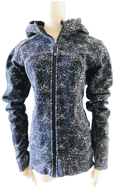 Item - Multicolor Scuba Marble Printed Hoodie Activewear Outerwear Size 10 (M)