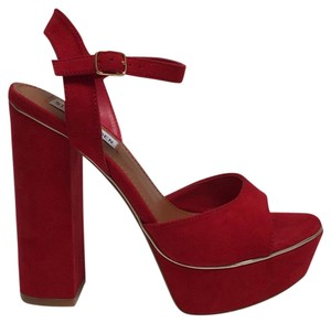 d2067d58e70 Red Steve Madden Platforms Ultra High 4