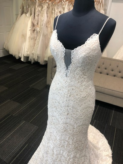 Maggie Sottero Ivory Over Light Gold Mietra Vintage Wedding Dress Size 6 (S) Image 5