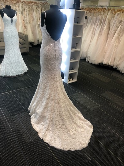 Maggie Sottero Ivory Over Light Gold Mietra Vintage Wedding Dress Size 6 (S) Image 6