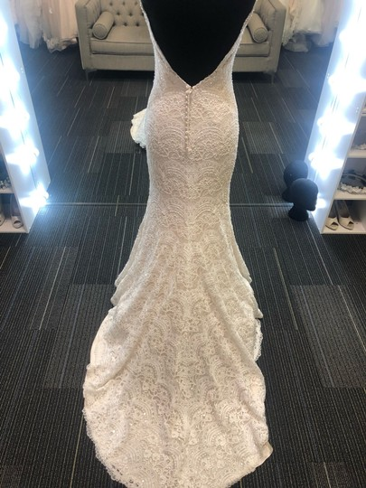 Maggie Sottero Ivory Over Light Gold Mietra Vintage Wedding Dress Size 6 (S) Image 7