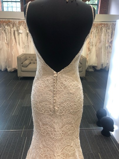 Maggie Sottero Ivory Over Light Gold Mietra Vintage Wedding Dress Size 6 (S) Image 8