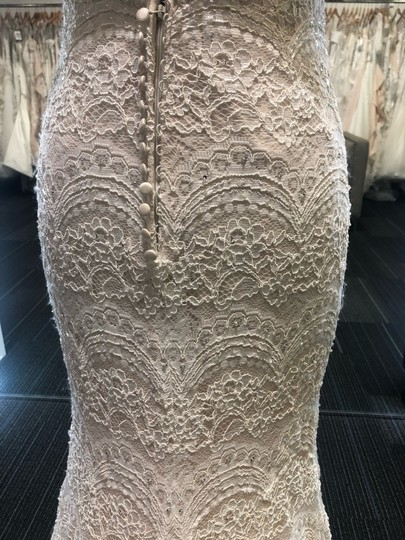 Maggie Sottero Ivory Over Light Gold Mietra Vintage Wedding Dress Size 6 (S) Image 9