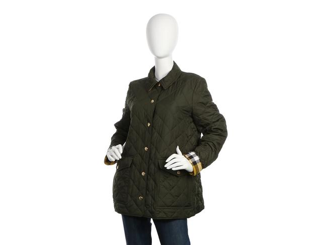Burberry Quilted Military Gold Hardware Bb.eq0606.24 Polyester Coat Image 1