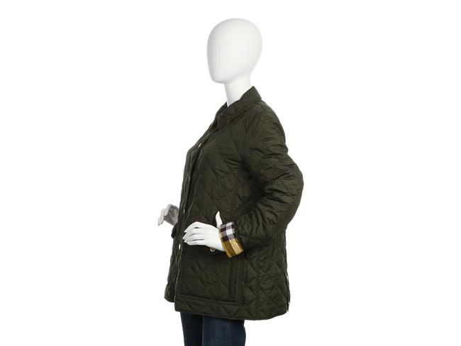 Burberry Quilted Military Gold Hardware Bb.eq0606.24 Polyester Coat Image 2