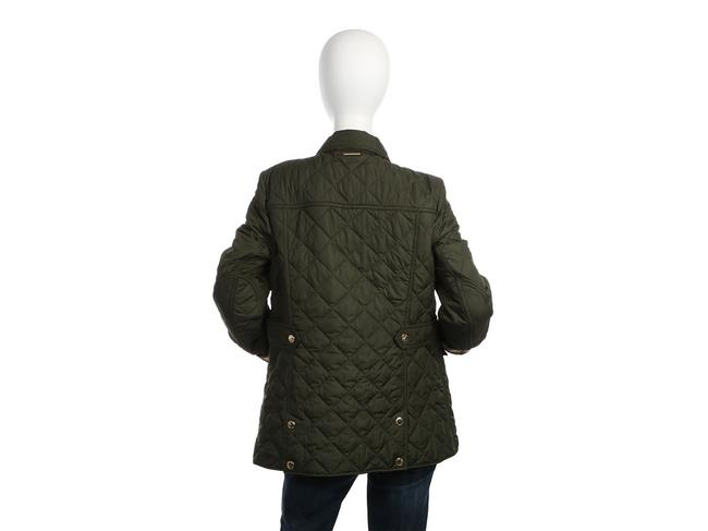 Burberry Quilted Military Gold Hardware Bb.eq0606.24 Polyester Coat Image 3