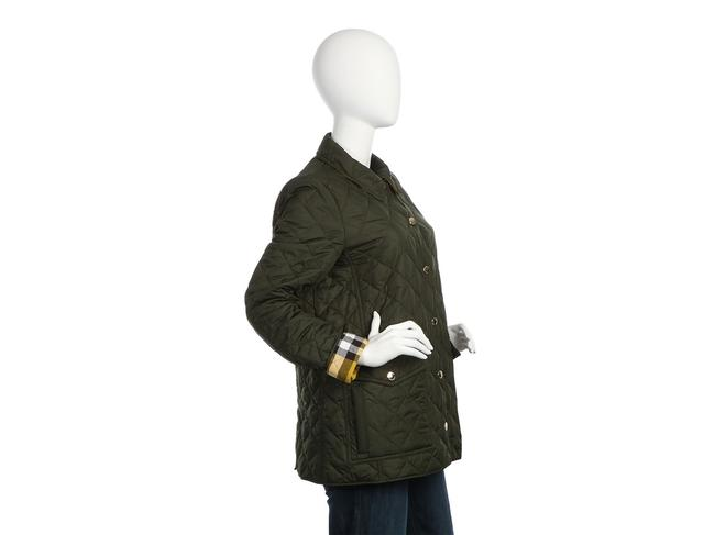 Burberry Quilted Military Gold Hardware Bb.eq0606.24 Polyester Coat Image 4