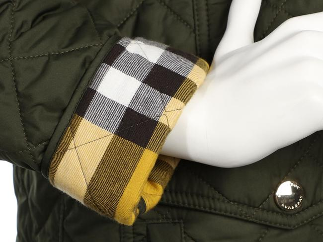 Burberry Quilted Military Gold Hardware Bb.eq0606.24 Polyester Coat Image 5
