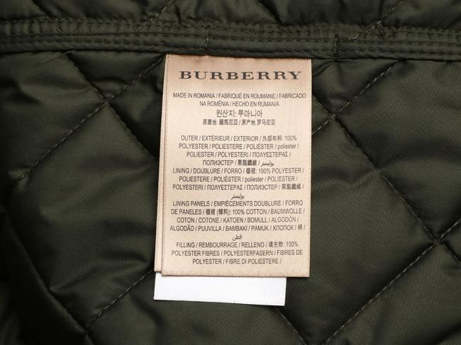 Burberry Quilted Military Gold Hardware Bb.eq0606.24 Polyester Coat Image 6