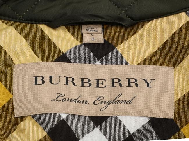Burberry Quilted Military Gold Hardware Bb.eq0606.24 Polyester Coat Image 7