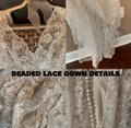 Allure Bridals Ivory Silk/Lace/Beaded Couture C291 Feminine Wedding Dress Size 4 (S) Image 2