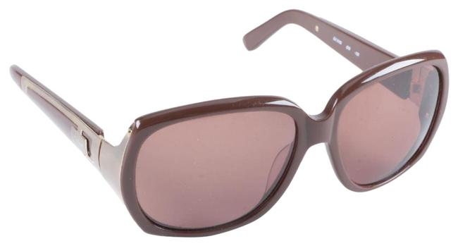 Item - Rose Gold/Brown Gilt Accented Sunglasses